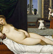 Venus Of Urbino Before 1538 Poster by Tiziano Vecellio