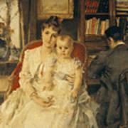Victorian Family Scene Poster by Alfred Emile Stevens