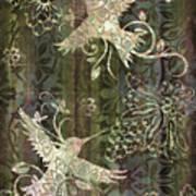 Victorian Hummingbird Green Poster by JQ Licensing