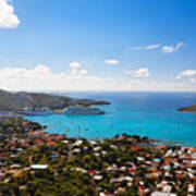 View Of Charlotte Amalie St Thomas Us Virgin Islands Poster by George Oze