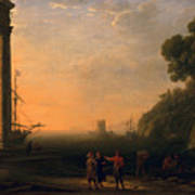 View Of Seaport Poster by Claude Lorrain