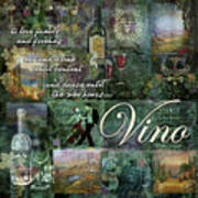 Vino Poster by Evie Cook