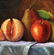 Vintage-fruit Poster by Linda Hiller