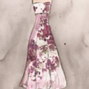 Vintage Romance Dress Poster by Lauren Maurer