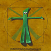 Virtuvian Man Poster by Judy Sherman