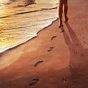 Walk Beside Me Poster by Cliff Hawley