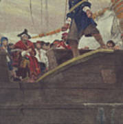 Walking The Plank Poster by Howard Pyle