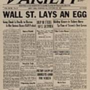 Wall Street Lays An Egg. Famous Poster by Everett