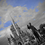 Walt Disney World - Partners Statue Poster by AK Photography