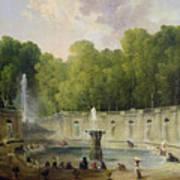 Washerwomen In A Park Poster by Hubert Robert
