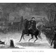 Washington At The Battle Of Trenton Poster by War Is Hell Store