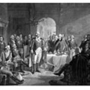 Washington Meeting His Generals Poster by War Is Hell Store