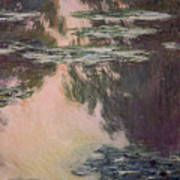 Waterlilies With Weeping Willows Poster by Claude Monet