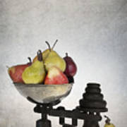 Weighing Pears Poster by Jane Rix