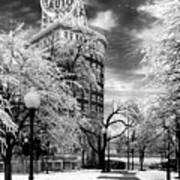Western Auto In Winter Poster by Steve Karol