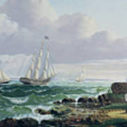 Whalers Coming Home Poster by American School
