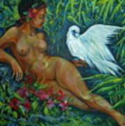 White Bird Poster by Anna  Duyunova