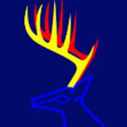 White Taled Deer Poster by Asbjorn Lonvig