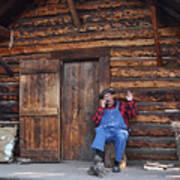 Wilderness Cabin Alaska Poster by Jennifer Crites