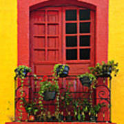 Window On Mexican House Poster by Elena Elisseeva