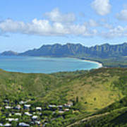 Windward Oahu Panorama IIi Poster by David Cornwell/First Light Pictures, Inc - Printscapes