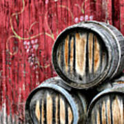 Wine Barrels Poster by Doug Hockman Photography