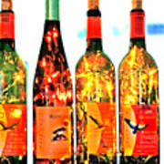 Wine Bottle Lights Poster by Margaret Hood