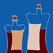 Wine Bottles Poster by Frank Tschakert
