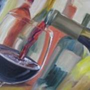 Wine Pour Poster by Donna Tuten