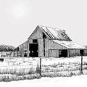 Winter Barn Poster by Lyle Brown