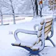 Winter Bench Poster by Elena Elisseeva