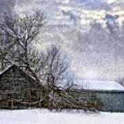 Winter Farm Poster by Steve Harrington