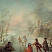 Winter Poster by Jacques de Lajoue