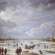 Winter Landscape Poster by Aert van der Neer