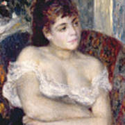 Woman In An Armchair Poster by Pierre Auguste Renoir