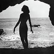 Woman On Beach Poster by Sasha