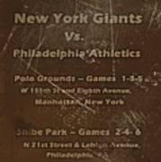 World Series 1913 Poster by David Dehner