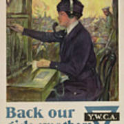 World War I Ywca Poster Poster by Clarence F Underwood