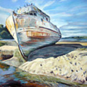 Wreck Of The Old Pt. Reyes Poster by Colleen Proppe