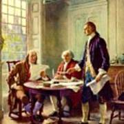 Writing Declaration Of Independence Poster by Pg Reproductions