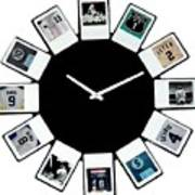 yankees Clock Poster by Paul Van Scott