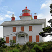 Yaquina Lighthouses - Yaquina Bay Lighthouse Oregon Poster by Christine Till
