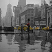 Yellow Cabs New York Poster by Andrew Fare