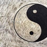 Yin And Yang Symbol On Drum Poster by Sami Sarkis