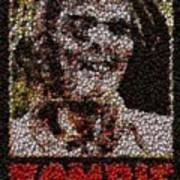 Zombie Bottle Cap Mosaic Poster by Paul Van Scott