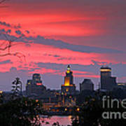 4th Of July Sunset Providence Ri Print by Butch Lombardi