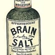1890s Uk Brain Salt Headaches Humour Print by The Advertising Archives
