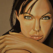 Angelina Jolie Voight Print by Paul Meijering
