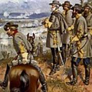 Battle Of Fredericksburg Print by American School
