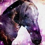 Horse In The Small Magellanic Cloud Print by Anastasiya Malakhova
